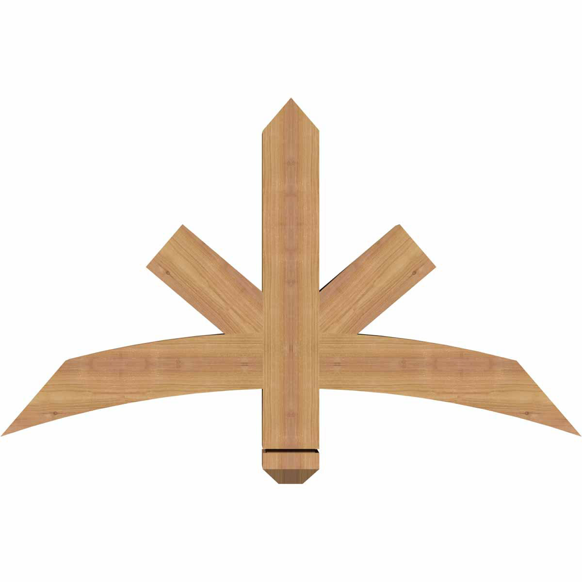 Alberta smooth timber gable bracketwestern red cedar for Cedar gable brackets