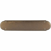 "Top Knobs - Appliance Collection - Plain Push Plate 15"" - German Bronze - M904"