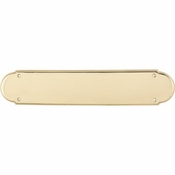 "Top Knobs - Appliance Collection - Beaded Push Plate 15"" - Polished Brass - M888"