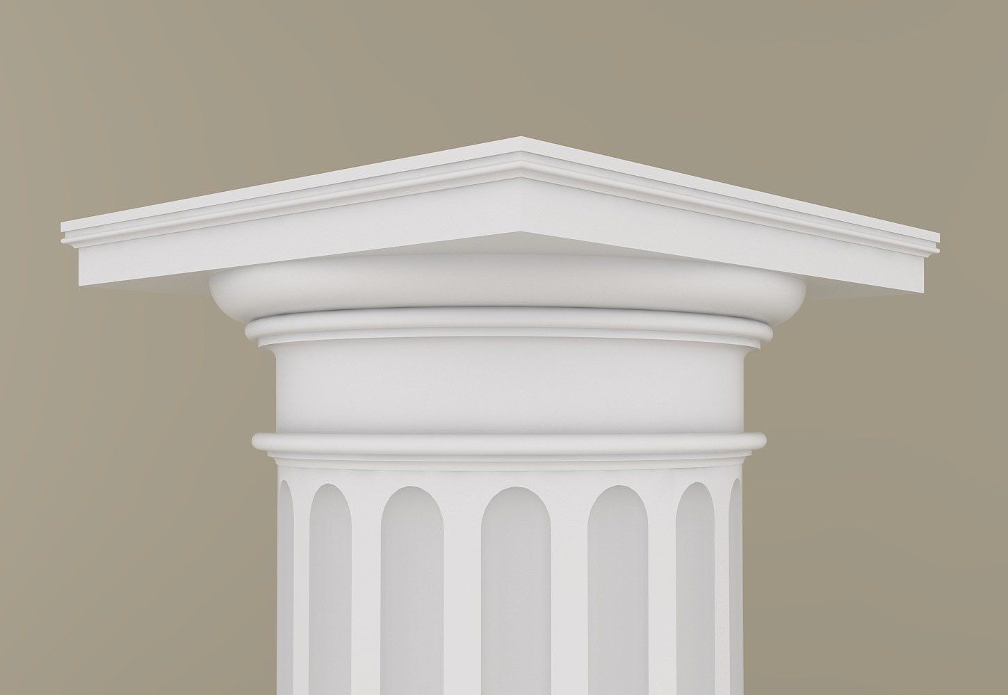 Architectural Wood Column Doric Design 105 Mahogany