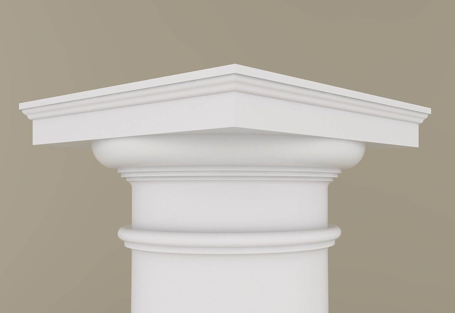 Architectural Wood Column Doric Design 115 Pine Plain