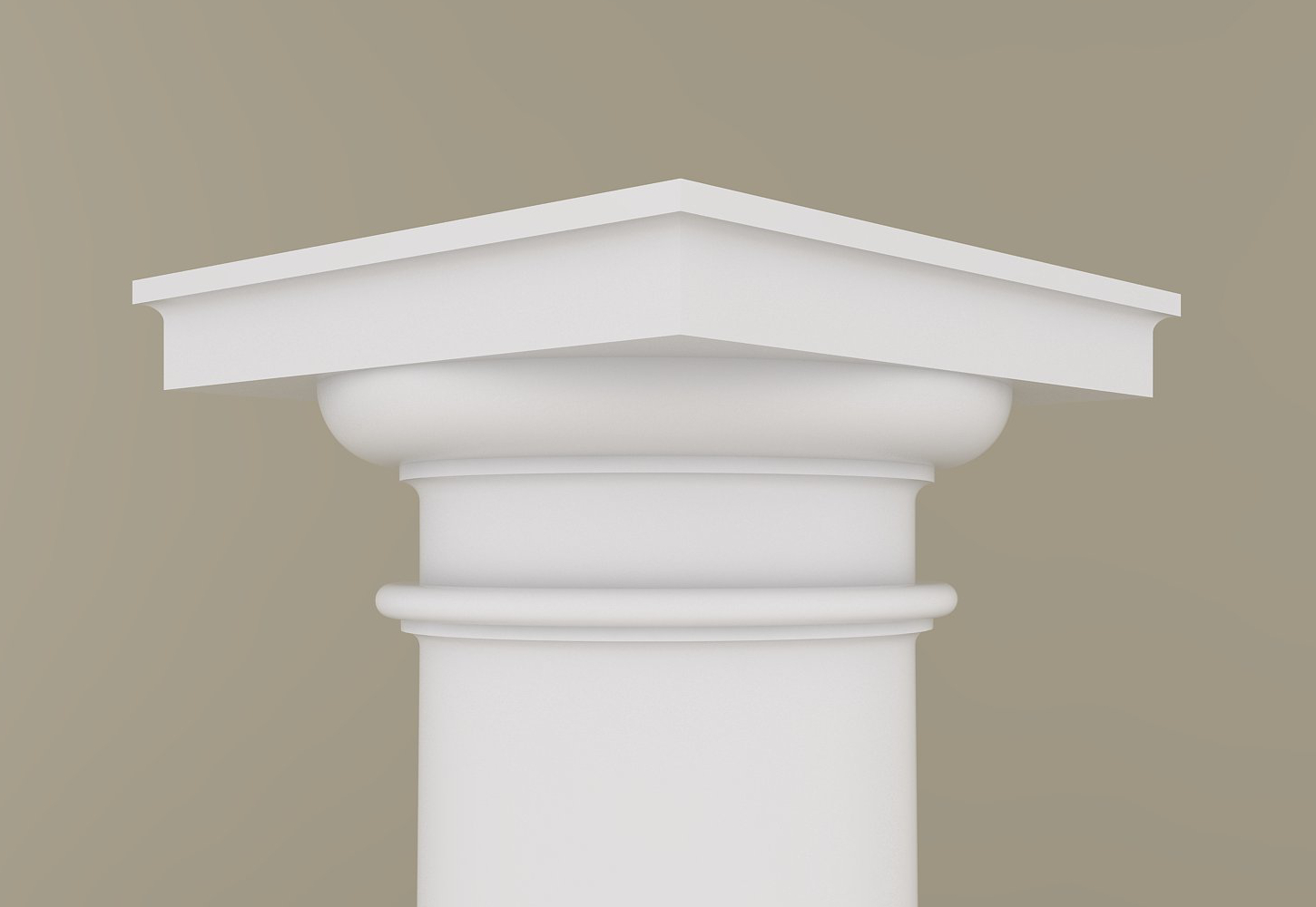 Architectural Column Base : Architectural wood column tuscan design mahogany