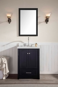 "Ariel Adams 25"" Single Sink Vanity Set in Black"