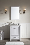 "Ariel Adams 25"" Single Sink Vanity Set in White"