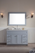 "Ariel Hamlet 49"" Single Sink Vanity Set with White Quartz Countertop in Grey"
