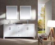 "Ariel Hanson 72"" Double Sink Vanity Set in White"