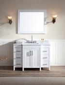 "Ariel Hollandale 49"" Single Sink Vanity Set in White"