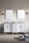 "Ariel Hollandale 73"" Double Sink Vanity Set in White"