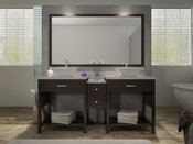 "Ariel Kennedy 73"" Double Sink Vanity Set in Espresso"