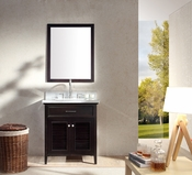 "Ariel Kensington 31"" Single Sink Vanity Set in Espresso"