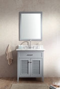 "Ariel Kensington 31"" Single Sink Vanity Set in Grey"