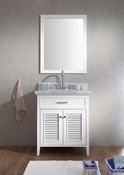 "Ariel Kensington 31"" Single Sink Vanity Set in White"