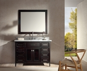 "Ariel Kensington 49"" Single Sink Vanity Set in Espresso"