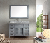 "Ariel Kensington 49"" Single Sink Vanity Set in Grey"