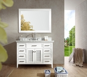 "Ariel Kensington 49"" Single Sink Vanity Set in White"