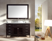 "Ariel Kensington 61"" Single Sink Vanity Set in Espresso"