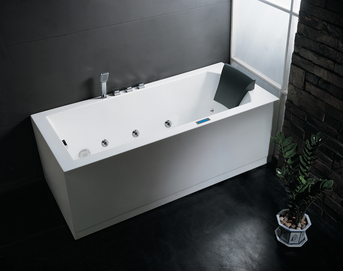 Ariel platinum am154 59 whirlpool bathtub bathtubs for Whirlpool tubs on sale