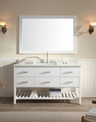 "Ariel Shakespeare 61"" Single Sink Vanity Set in White"