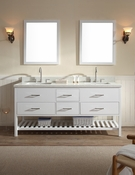 "Ariel Shakespeare 73"" Double Sink Vanity Set in Grey"