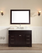 "Ariel Stafford 49"" Single Sink Vanity Set in Espresso"