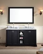 "Ariel Westwood 61"" Double Sink Vanity Set in Black"