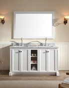 "Ariel Westwood 61"" Double Sink Vanity Set in White"