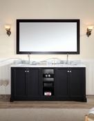 "Ariel Westwood 73"" Double Sink Vanity Set in Black"