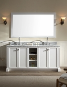 "Ariel Westwood 73"" Double Sink Vanity Set in White"