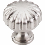 "Top Knobs - Asbury Collection - Melon Knob 1 1/4"" - Brushed Satin Nickel - M1318"
