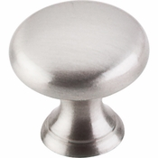 "Top Knobs - Asbury Collection - Mushroom Knob 15/16"" - Brushed Satin Nickel - M1310"