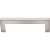"Top Knobs - Asbury Collection - Square Bar Pull 3 3/4"" (c-c) - Brushed Satin Nickel - M1161"
