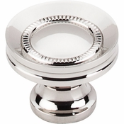 "Top Knobs - Asbury Collection - Button Faced Knob 1 1/4"" - Polished Nickel - M1325"