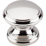 "Top Knobs - Asbury Collection - Flat Top Knob 1 3/8"" - Polished Nickel - M1304"