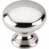 "Top Knobs - Asbury Collection - Mushroom Knob 1 1/4"" - Polished Nickel - M1312"