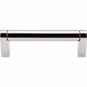 "Top Knobs - Asbury Collection - Pennington Bar Pull 3 3/4"" (c-c) - Polished Nickel - M1255"
