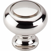 "Top Knobs - Asbury Collection - Ring Knob 1 1/4"" - Polished Nickel - M1309"