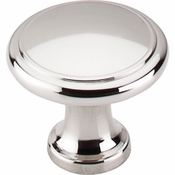 "Top Knobs - Asbury Collection - Ringed Knob 1 1/8"" - Polished Nickel - M1317"