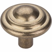 "Top Knobs - Aspen Collection - Aspen Button Knob 1 3/4"" - Light Bronze - M1476"