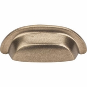 "Top Knobs - Aspen Collection - Aspen Cup Pull 3"" (c-c) - Light Bronze - M1411"