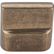 "Top Knobs - Aspen Collection - Aspen Flat Sided Knob 7/8"" (c-c) - Light Bronze - M1501"