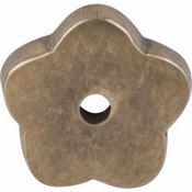 "Top Knobs - Aspen Collection - Aspen Flower Backplate 1"" - Light Bronze - M1426"