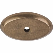 "Top Knobs - Aspen Collection - Aspen Oval Backplate 1 1/2"" - Light Bronze - M1436"