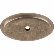 "Top Knobs - Aspen Collection - Aspen Oval Backplate 1 3/4"" - Light Bronze - M1441"