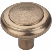 "Top Knobs - Aspen Collection - Aspen Peak Knob 1 5/8"" - Light Bronze - M1491"