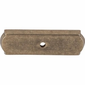 "Top Knobs - Aspen Collection - Aspen Rectangle Backplate 2 1/2"" - Light Bronze - M1431"