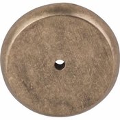 "Top Knobs - Aspen Collection - Aspen Round Backplate 1 3/4"" - Light Bronze - M1466"