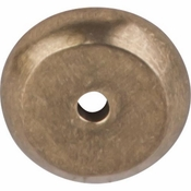 "Top Knobs - Aspen Collection - Aspen Round Backplate 7/8"" - Light Bronze - M1456"