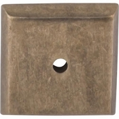 "Top Knobs - Aspen Collection - Aspen Square Backplate 1 1/4"" - Light Bronze - M1451"