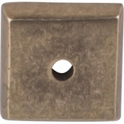 "Top Knobs - Aspen Collection - Aspen Square Backplate 7/8"" - Light Bronze - M1446"