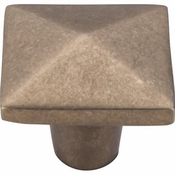 "Top Knobs - Aspen Collection - Aspen Square Knob 1 1/2"" - Light Bronze - M1521"